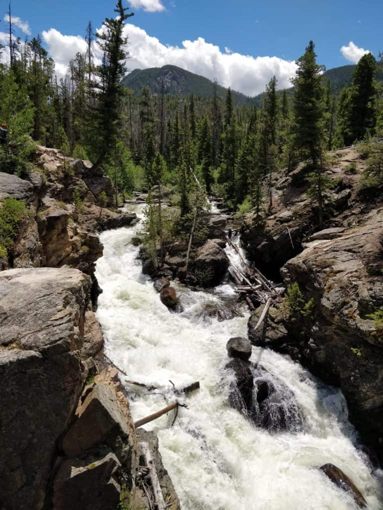 Adams Falls, Grand Lake Colorado on the East Inlet Trail
