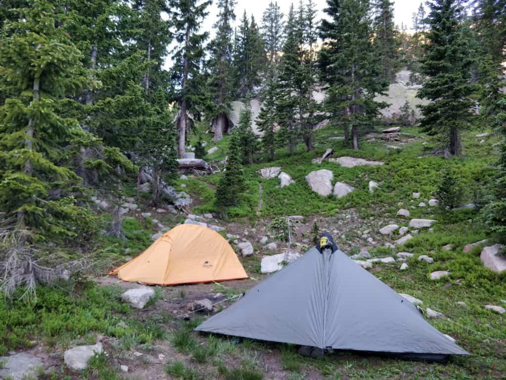 camping at Columbine Lake, Colorado