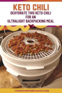 keto chili backpacking dinner recipe