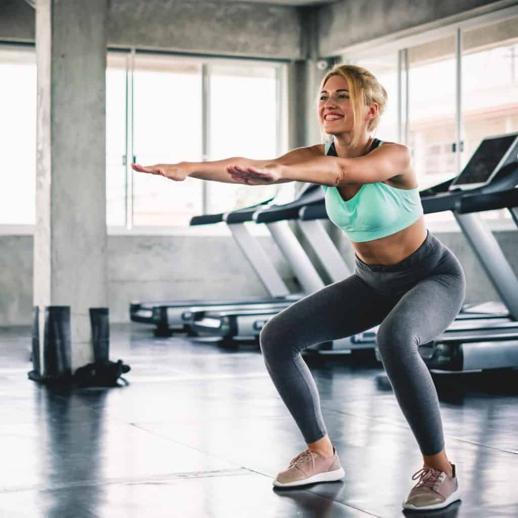 squats for lower body workout for hikers