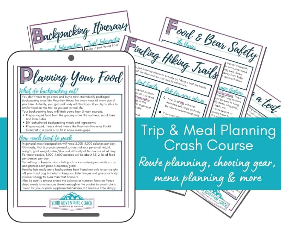 backpacking planning course