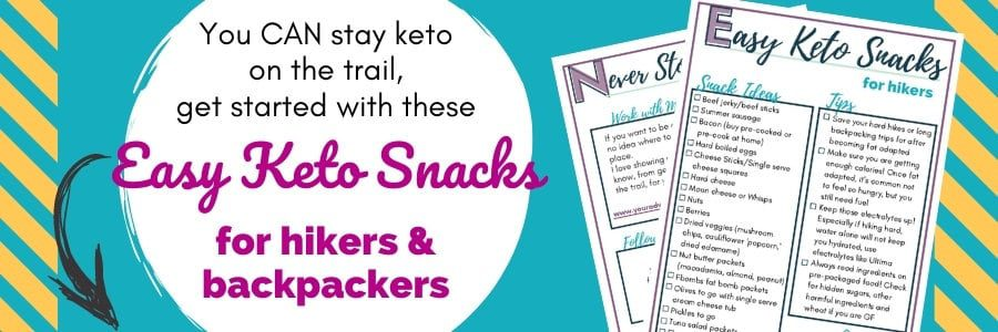 keto hiking snacks