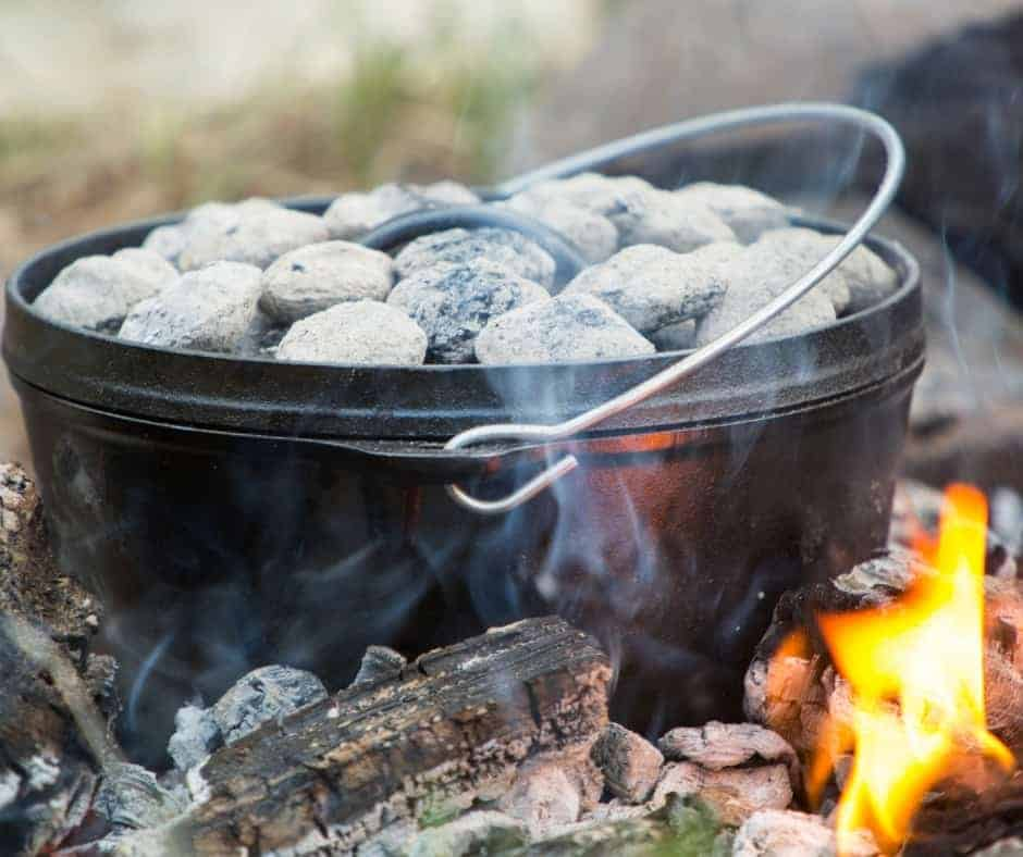 one pot camping meals in a dutch oven