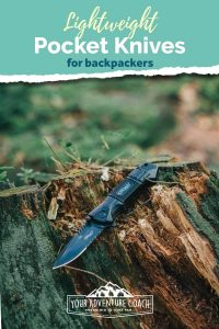 lightweight knives for backpacking