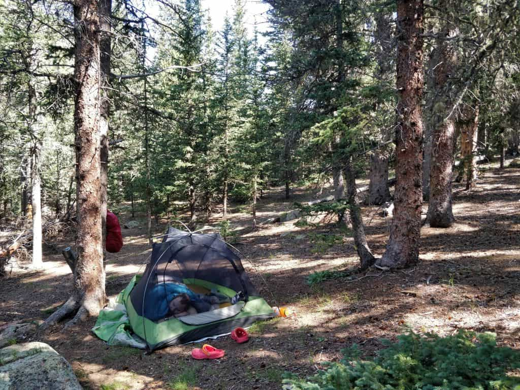 Lost Creek Wilderness Loop backpacking campsite