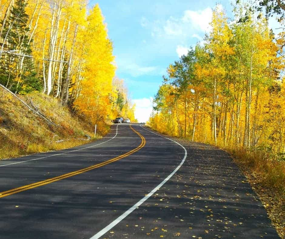scenic autumn drives in Colorado to see the aspen leaves