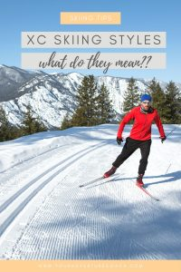 types of cross country skiing